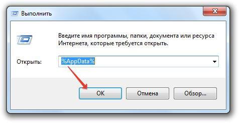 Команда %AppData%