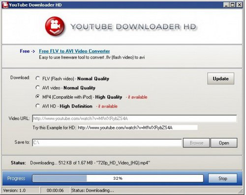 Утилита Youtube Downloader HD
