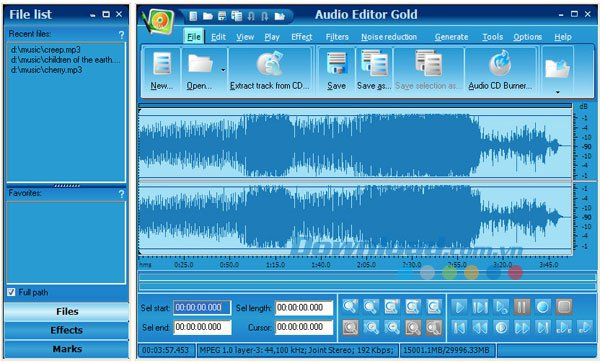 Извлечь звук с помощью программы Audio Editor Gold