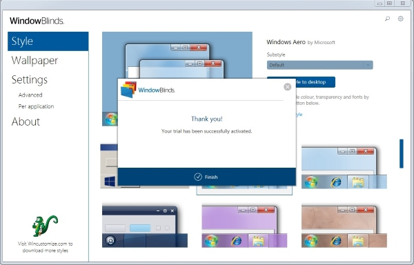 Приложение WindowBlinds