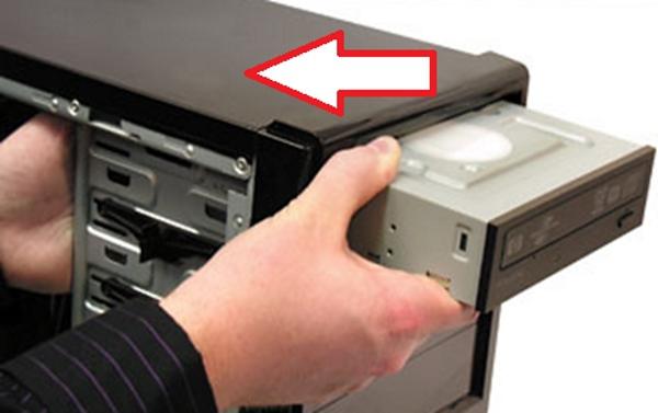 Размещение дисковода снаружи системного блока